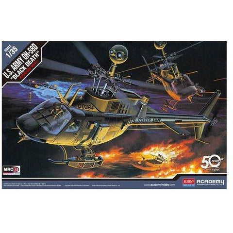 "ACADEMY 1/35 OH-58D Kiowa ""Black Death"" Plastic Model Kit"