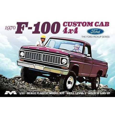 MOEBIUS 1/25 1970 F-100 Ford Custom Cab Pickup Plastic Kit