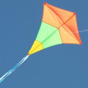 WINDSPEED Diamond Tricolour Singel String Kite