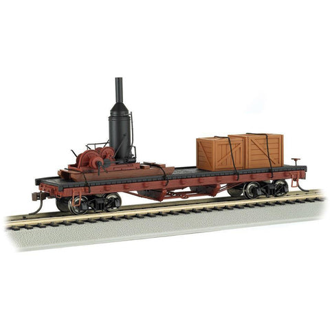 BACHMANN HO ACF LOG CAR W/ACCESSORIES - Hearns Hobbies Melbourne - BACHMANN