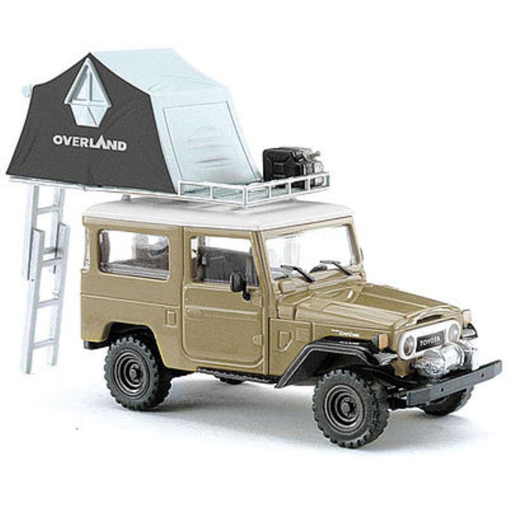 BUSCH TOYOTA FJ40 W/ ROOF TENT BEIGE - Hearns Hobbies Melbourne - BUSCH