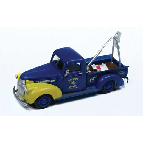 CLASSIC METAL WORKS 40's Chevrolet Wrecker Tow Truck Sunoco (Blue,Yellow)