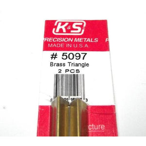 K&S ENGINEERING BRASS TRIANGLE 2 PCS