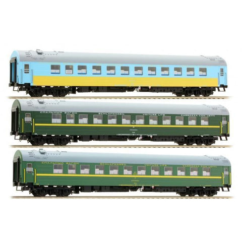ACME HO 3pc Passenger Coach Set - Set B