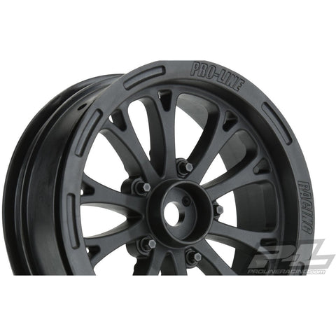 Image of PROTOFORM POMONO Drag Spec 2.2 Black Front Wheels (2) For Slash 2WD
