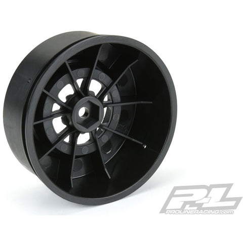 Image of PROTOFORM POMONO Drag Spec 2.2/3.0 Black Rear Wheels (2) for Slash