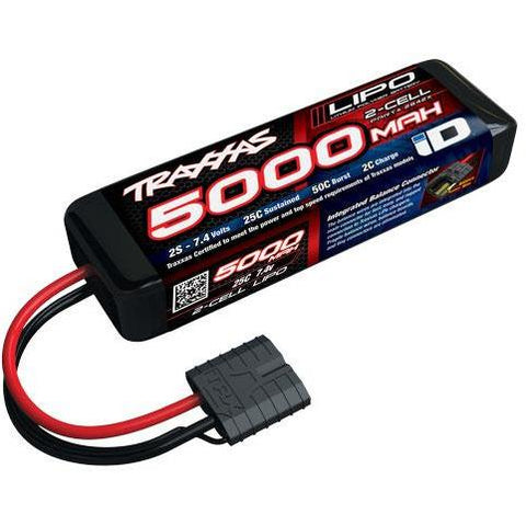 TRAXXAS 5000MAH 7.4V 2-CELL 25C LIPO BATTERY (2842X)