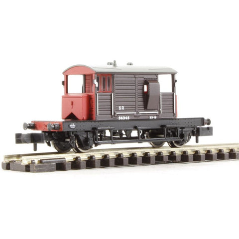 GRAHAM FARISH SR 25 Ton 'Pill Box' Brake Van SR Brown Grey Roof & Red Ends - Hearns Hobbies Melbourne - GRAHAM FARISH