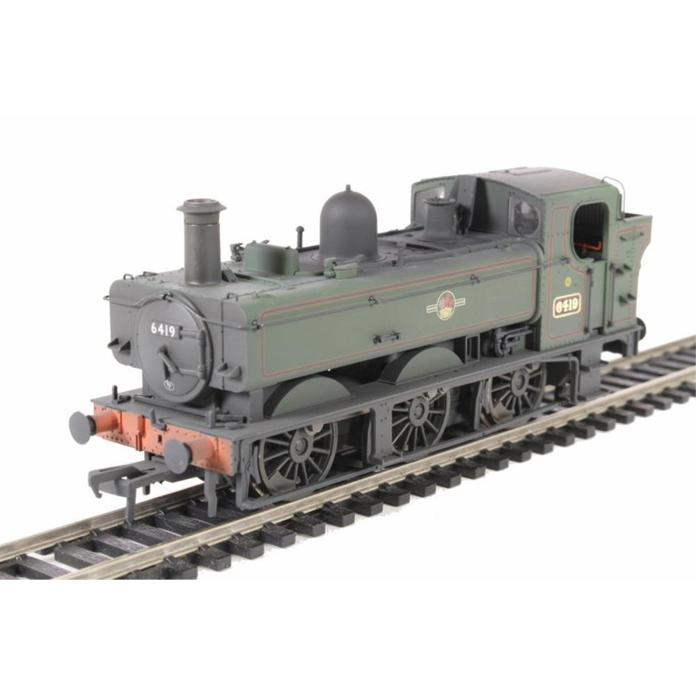 BRANCHLINE Class 64xx 6419 0-6-0 Pannier Tank BR Lined Green Late Crest Weathered