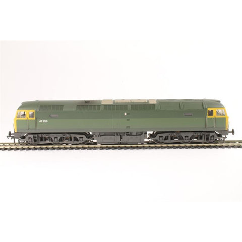 Image of BRANCHLINE OO Class 47 47256 BR Green Full Yellow Ends (TOP