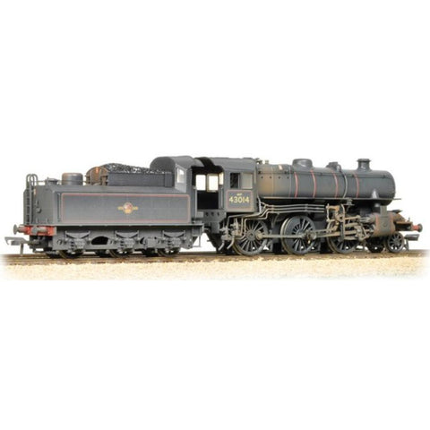 BRANCHLINE Ivatt Class 4MT 43014 BR Lined Black Late Crest Weathered