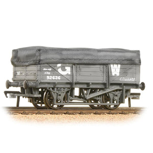 BRANCHLINE 5 Plank China Clay Wagon with Hood GWR Grey Weathered (33-088)