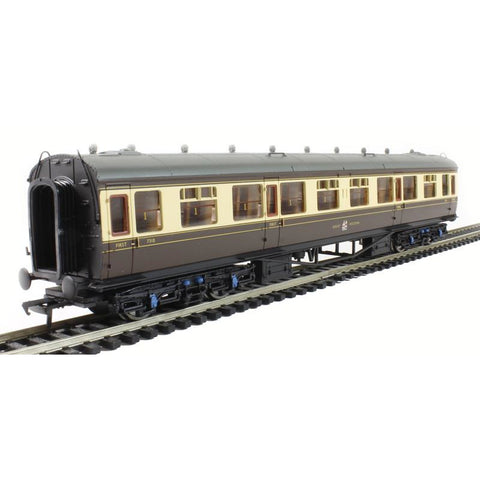 BRANCHLINE OO BR 60ft. Collett 1st/3rd Composite GWR Choc