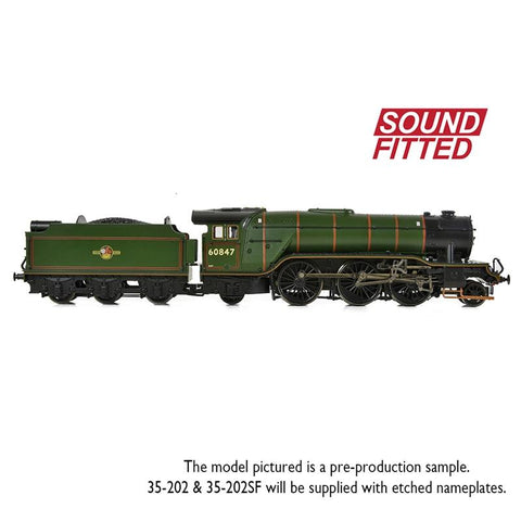 BRANCHLINE OO LNER V2 60847 'St Peter's School' BR Lined Green (Late Crest) Sound Fitted