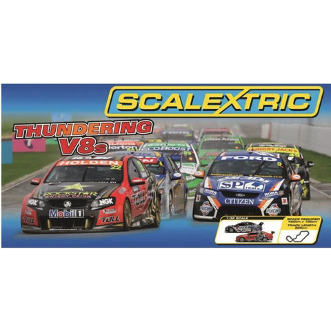 SCALEXTRIC THUNDERING V8'S SET