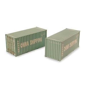 BRANCHLINE OO 20ft Containers 'China Shipping' (x2)