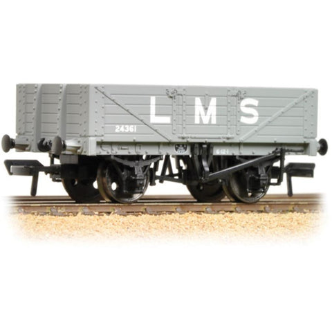 BRANCHLINE OO 5 Plank Wagon Wooden Floor LMS Grey