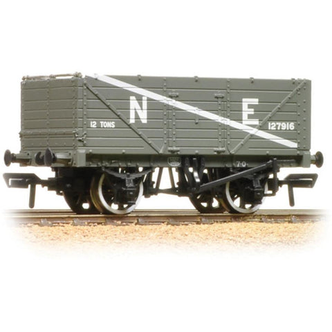 BRANCHLINE 7 Plank End Door Wagon NE Grey