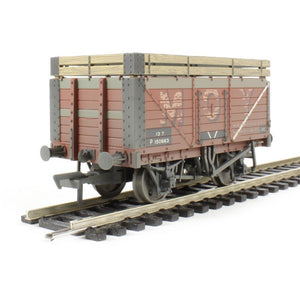 BRANCHLINE 7 Plank Wagon w/Coke Rails BR 'P' Numbered Ex-MOY (Weathered)