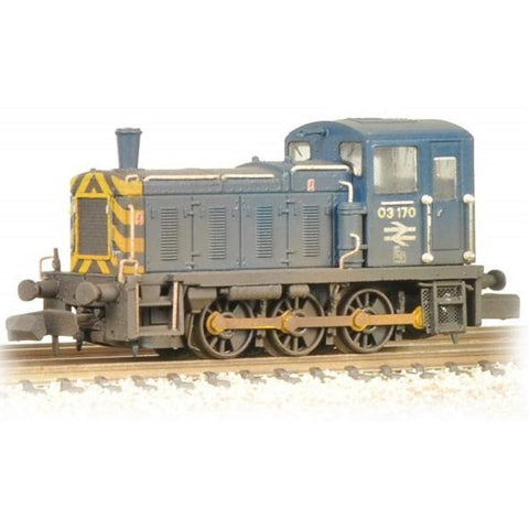 GRAHAM FARISH Class 03 03170 BR Blue Wasp Stripes & Air Tanks Weathered - Hearns Hobbies Melbourne - GRAHAM FARISH