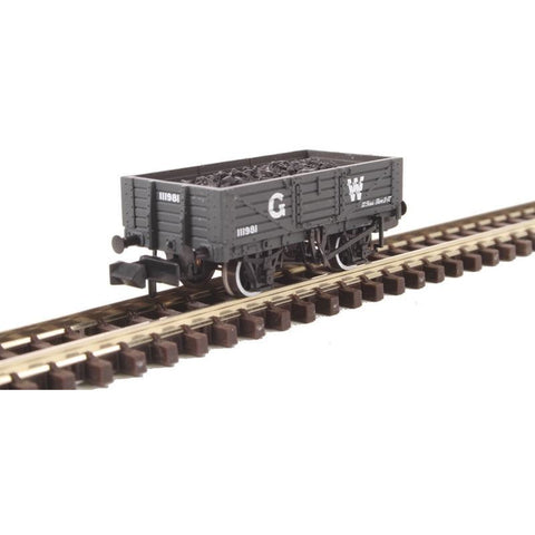 Image of GRAHAM FARISH N 5 Plank Wooden Floor Wagon GWR Grey with Lo