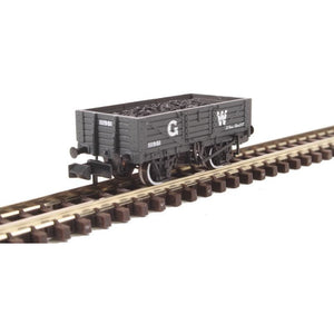 GRAHAM FARISH N 5 Plank Wooden Floor Wagon GWR Grey with Lo