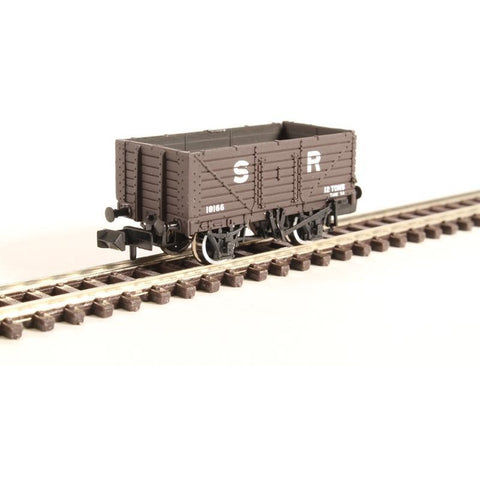 Image of GRAHAM FARISH N 7 Plank Fixed End Wagon SR Brown