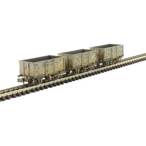 Image of GRAHAM FARISH N Triple Pack 16 Ton Steel Mineral Wagons BR