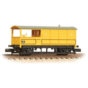 GRAHAM FARISH N 20 Ton Toad Brake Van BR Departmental Yello