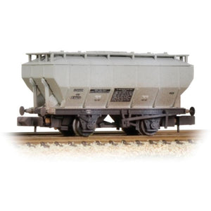 GRAHAM FARISH Covered Hopper Wagon 'Soda Ash' Light Grey Weathered