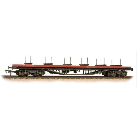 BRANCHLINE 80 Tonne glw BDA Bogie Bolster Wagon Railfreight (Red) - Weathered