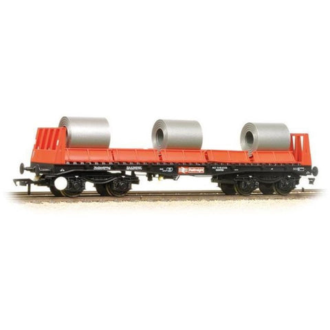BRANCHLINE BAA Steel Carrier Wagon With Steel Coils BR Railfreight Red & Black