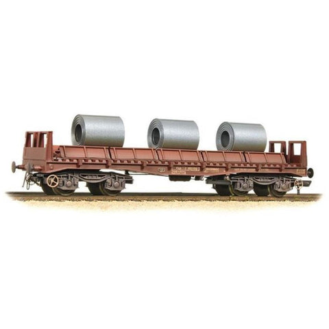 BRANCHLINE BAA Steel Carrier Wagon BR Brown with Coils - Weathered