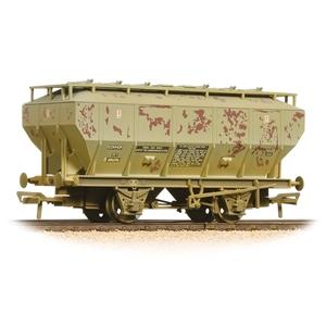 BRANCHLINE OO Covhop Wagon 'Soda Ash' Light Grey Weathered
