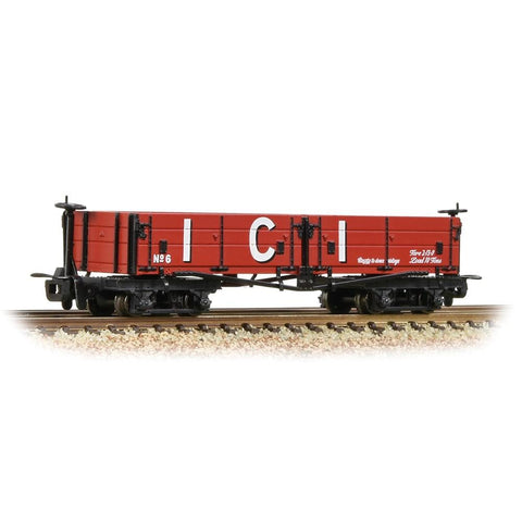 BACHMANN NARROW GAUGE OO9 Open Bogie Wagon 'ICI' Red (393-0