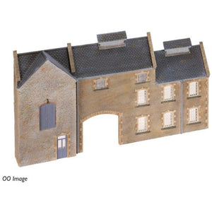SCENECRAFT N  Low Relief Stone Factory 133mm x 13mm x 72mm - Hearns Hobbies Melbourne - SCENECRAFT