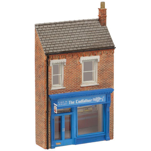 SCENECRAFT N Low Relief 'The Cod Father' Fish & Chip Shop
