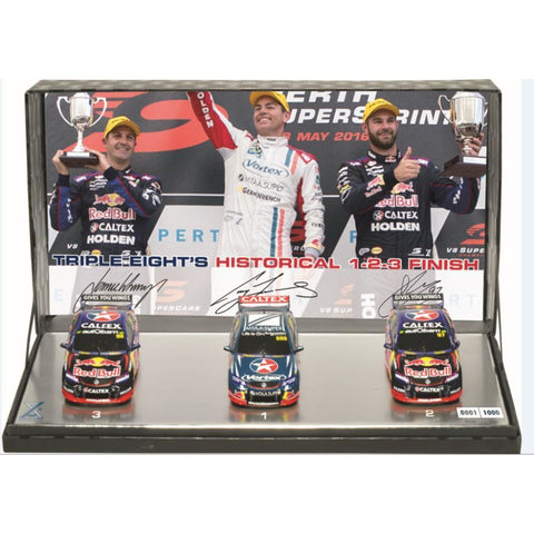 CLASSIC CARLECTABLES 1:43 Triple Pack - Triple Eight's Historical 1-2-3 Finish (Personal Signed by Craig Lowndes, Shane van Gisbergen & Jamie Whincup) 43-43670 - Hearns Hobbies Melbourne - CLASSIC CARLECTABLES