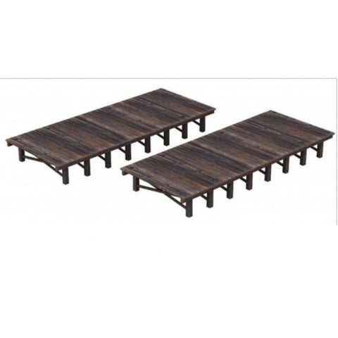 SCENECRAFT OO  Two Wooden Platforms 168mm x 68mm x 20mm - Hearns Hobbies Melbourne - SCENECRAFT