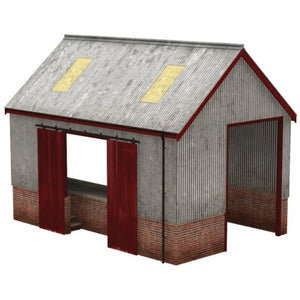 SCENECRAFT OO  Corrugated Goods Shed 124mm x 84mm x 95mm : Available - Hearns Hobbies Melbourne - SCENECRAFT