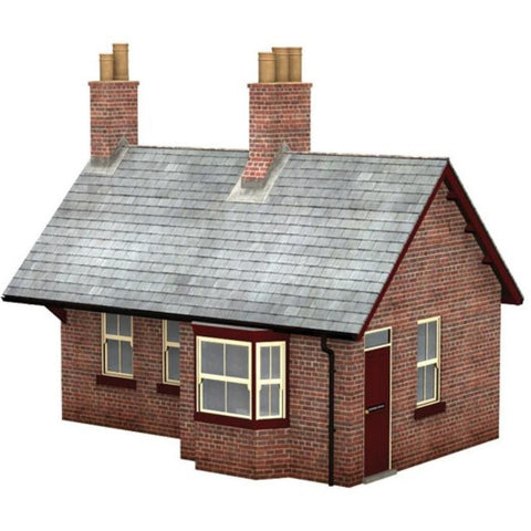 SCENECRAFT OO  Brick Station Waiting Room Building 93mm x 65mm x 95mm : Available - Hearns Hobbies Melbourne - SCENECRAFT