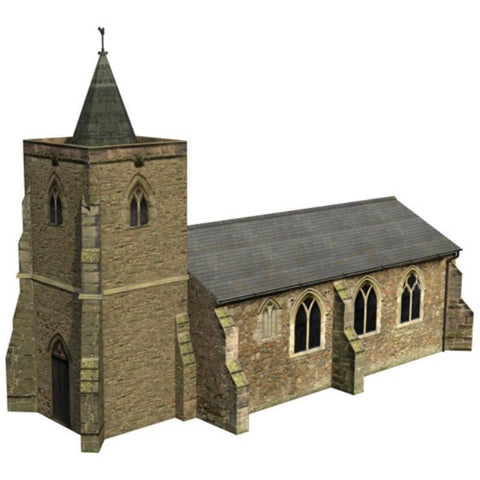 SCENECRAFT OO  Church 195mm x 96mm x 133mm - Hearns Hobbies Melbourne - SCENECRAFT