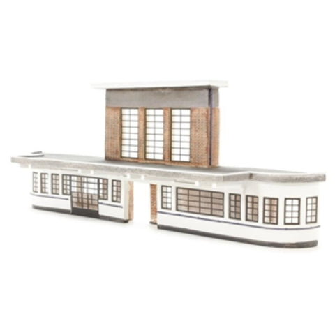 SCENECRAFT OO  Low Relief Art Deco Station 255mm x 56mm x 97mm
