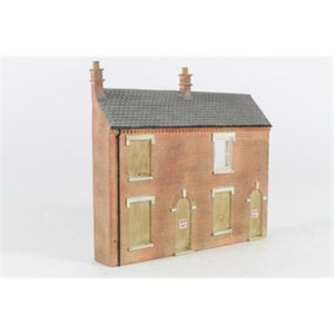 SCENECRAFT OO  Low Relief Derelict Houses 120mm x 19mm x 105mm