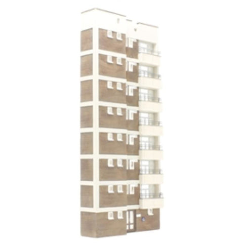 SCENECRAFT OO  Low Relief Block of flats 115mm x 27mm x 260mm
