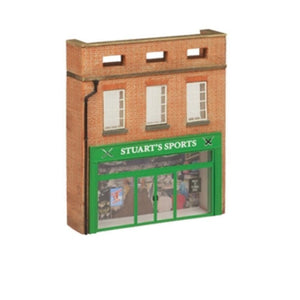 SCENECRAFT OO  Low Relief 'Stuarts Sports Shop' 81mm x 20mm x 95mm