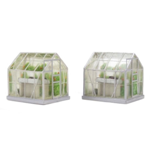 SCENECRAFT OO  Greenhouse (x2) 30mm x 20mm x 30mm