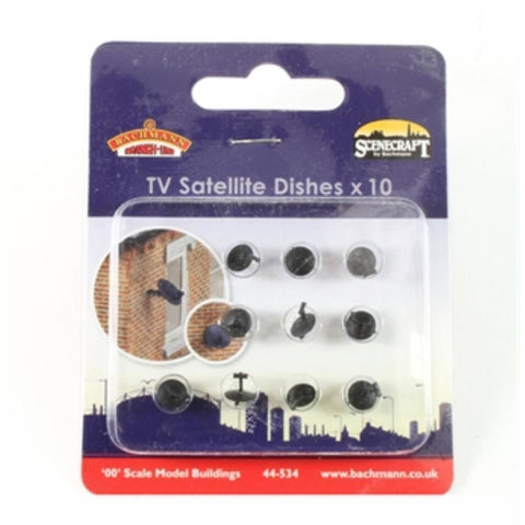 SCENECRAFT OO  Satellite Dishes (x10) : Available - Hearns Hobbies Melbourne - SCENECRAFT