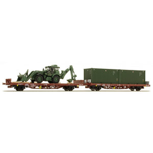 ACME HO 2pc Italian Military Kgps Wagons with Load