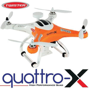 MODE 2 TWISTER QUATTRO-X QUAD RTF WITH TX, CHARGER & 2700ma